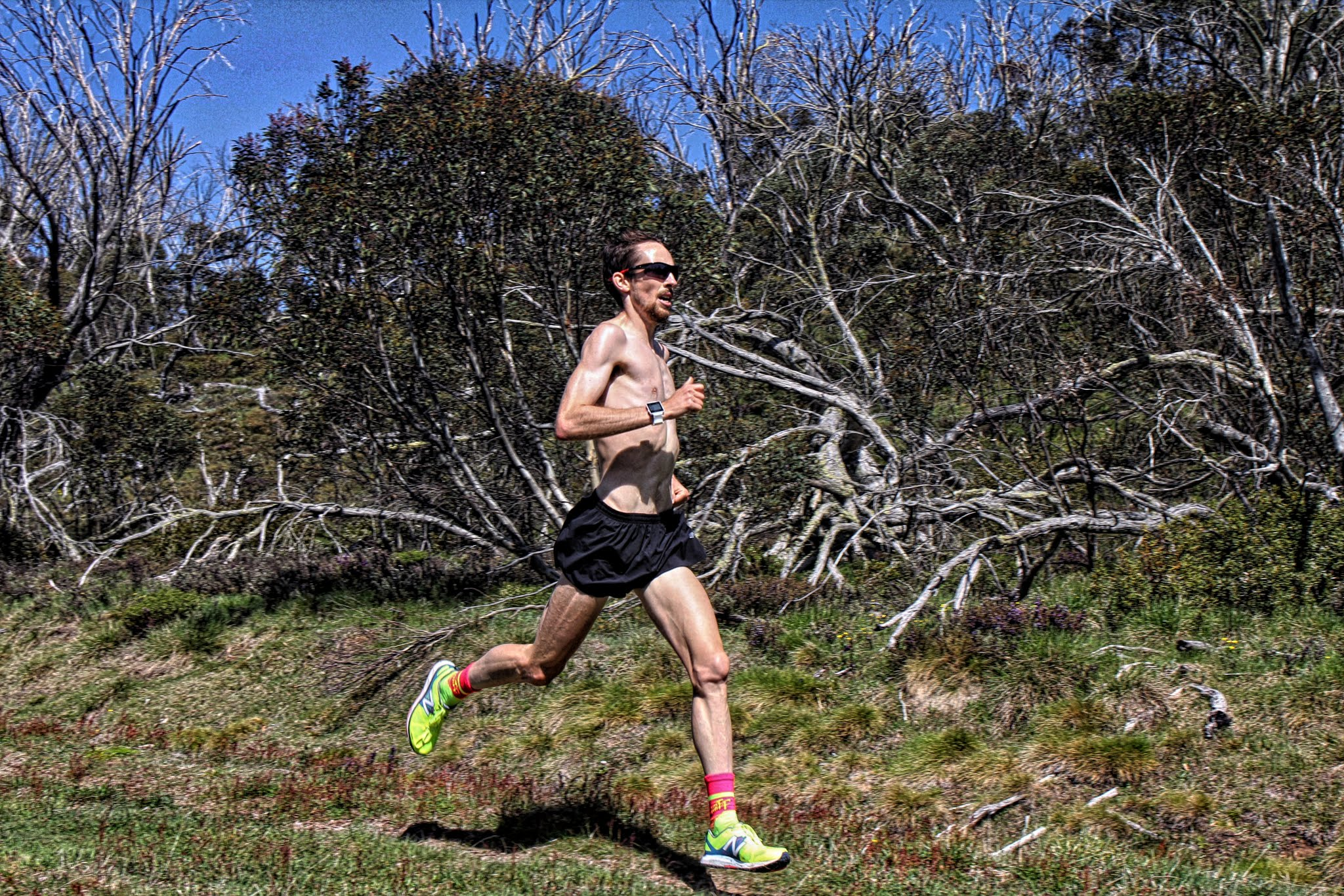 McNeill training at altitude, Falls Creek Victoria earlier this year with MTC