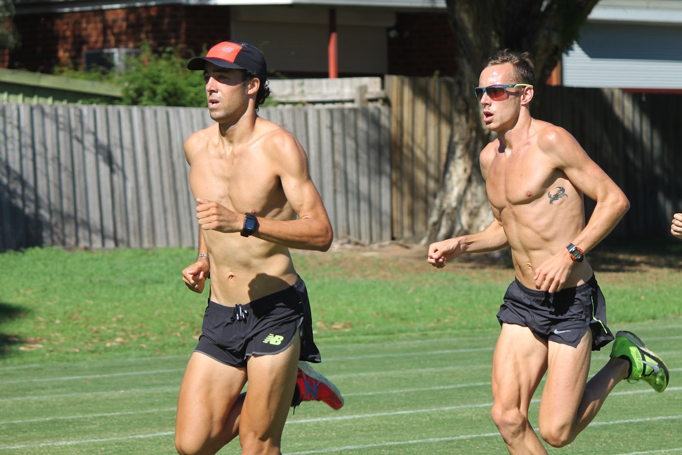 Luke Mathews and Ryan Gregson working hard at MTC training session in Melbourne earlier this year: Photo by RT