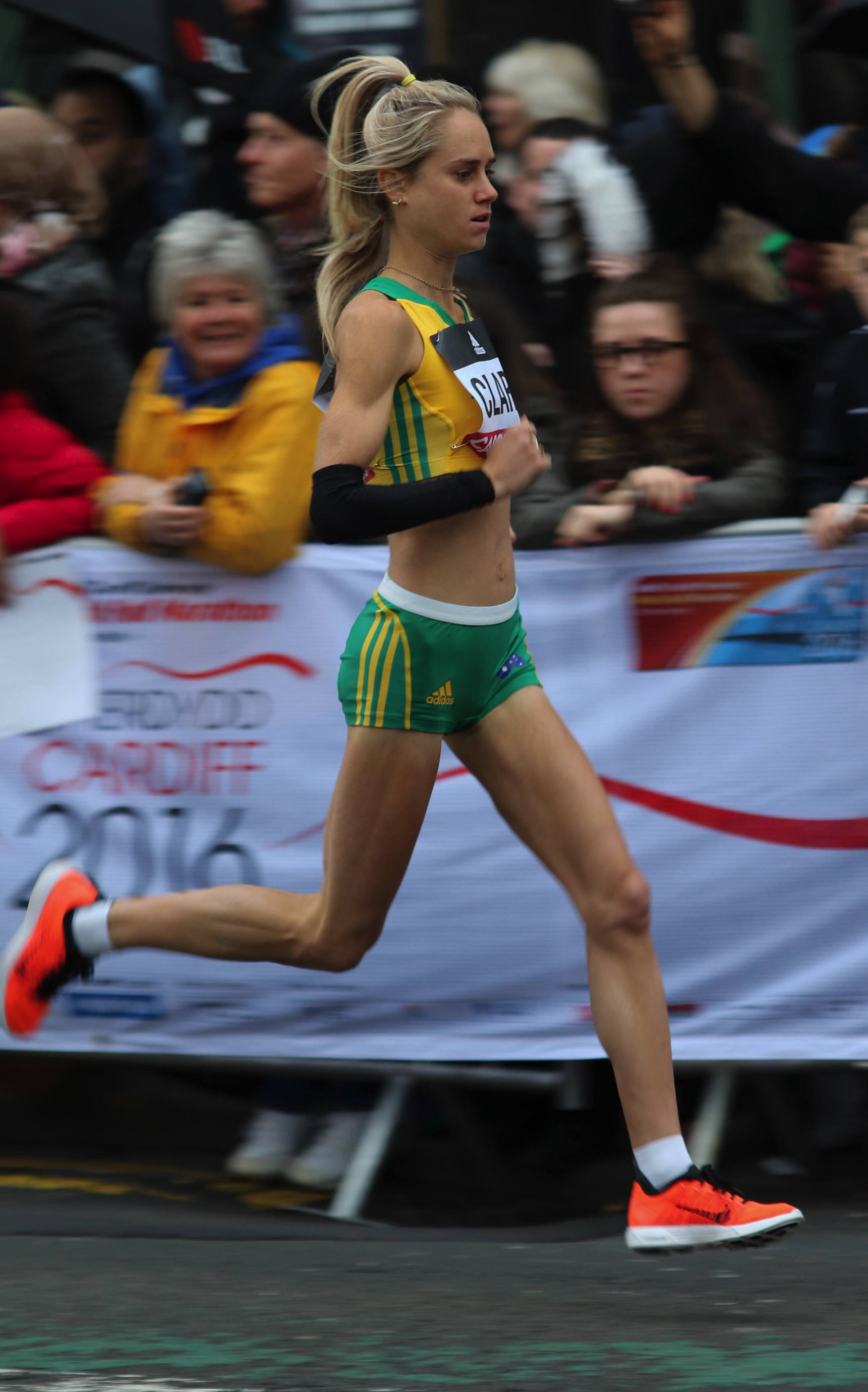 Milly Clark: World Half Marathon Championships: 1:10:48, Cardiff, 26 MAR 2016: Photo by Keith McClure