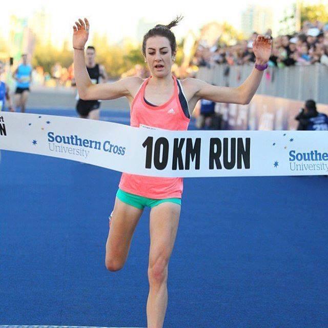 Leanne Pompeani: Winning the women's Southern Cross University 10km Run at the Gold Coast Marathon 2016