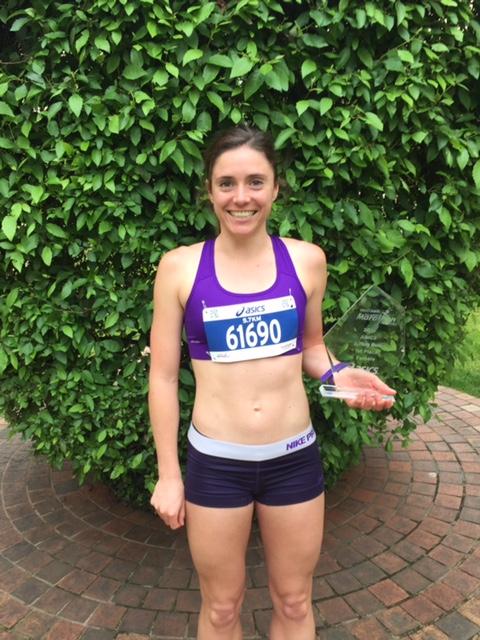 Ellen Schaef after her win the Melbourne Marathon 5.7km run to raise money for Cancer of Unknown Primary