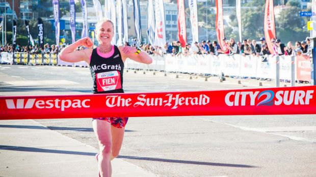 Cassie Fiend has won the City2Surf two years running. 2016 C2S Photo by Anna Kucera