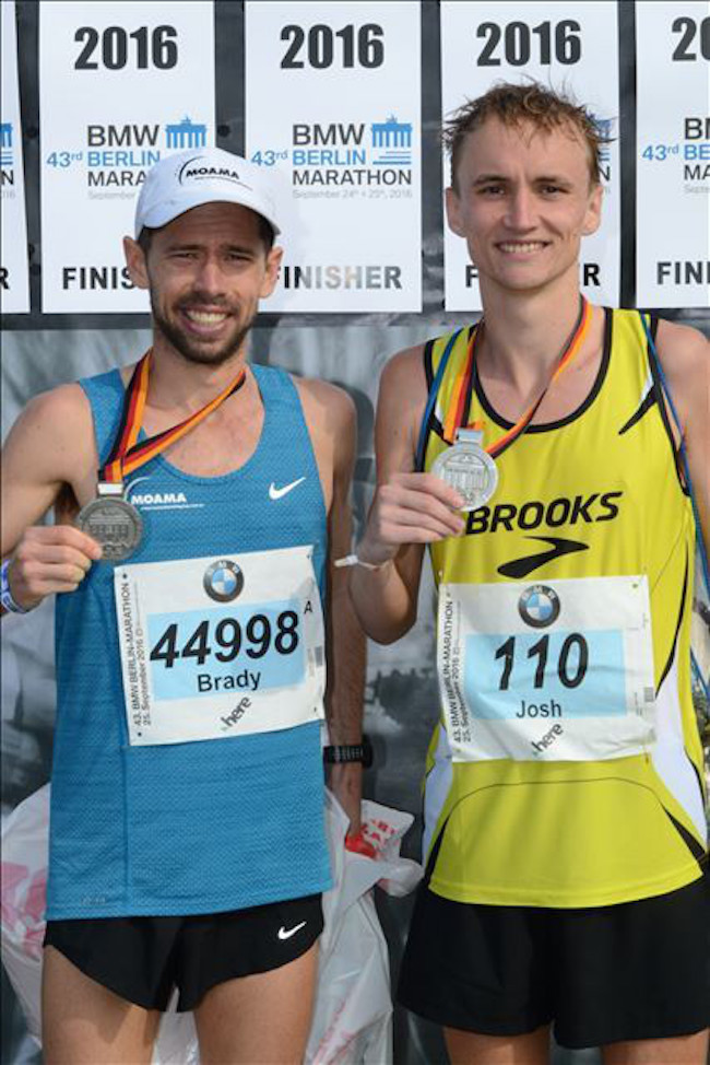 Josh and Brady post race Berlin 2016
