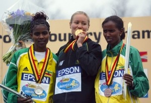 Benita Willis After winning the 2004 World Cross Country Championship