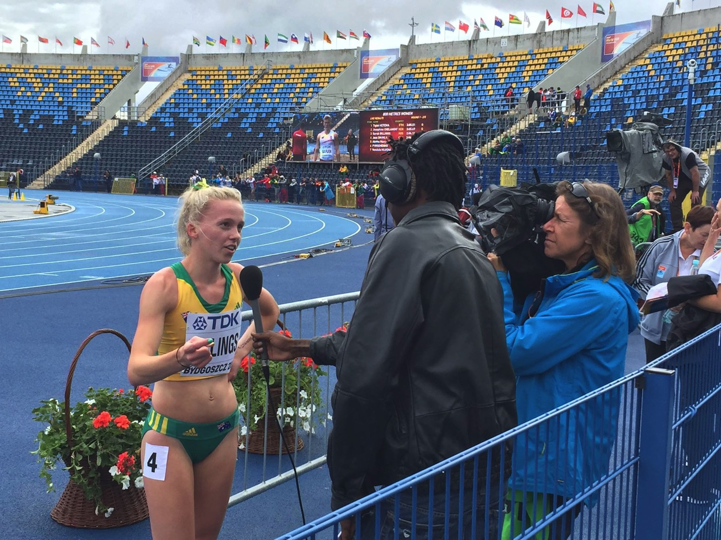 Photo of Sarah Billings in Bydgoszcz, Poland '16 thanks to Athletics Australia