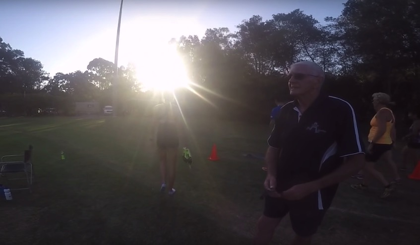 Leading NSW athlete, coach, mentor, and administrator, John Atterton at Rotary Athletics Field, March 2016
