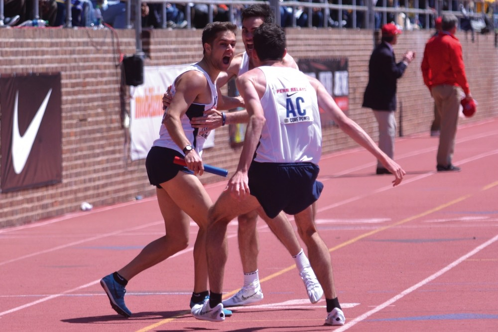 Villanova men capture 4-by-mile at Penn Relays 2015: Photo: Zoe Gan