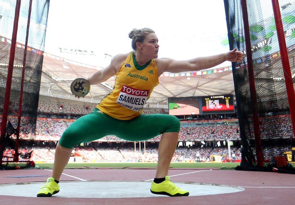 Smaules will be looking at producing one of her biggest throws of her career in Rio to push her way up to a medal position. (Photo by Michael Steele/Getty Images)