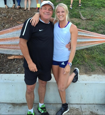 An important partnership - Brooke with her Dad and Coach ready to take on the world.