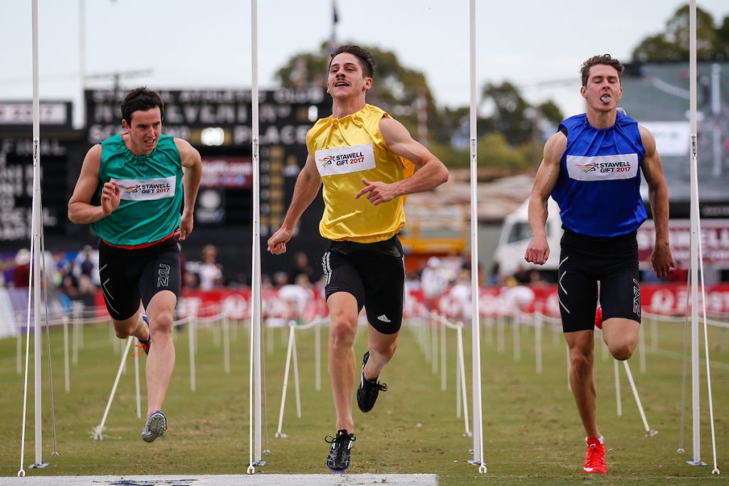 Easter favourites triumph 2017 stawell gift runners tribe matthew rizzo winner stawell athletic club stawell gift during day 3 of the 2017 stawell gift photo by luke hemerstawell gift negle Image collections