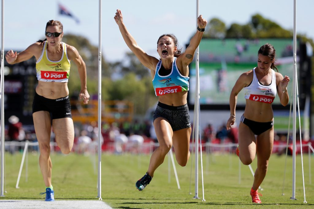Despard and forsyth crowned stawell gift champions runners tribe elizabeth forsyth wins the australia post womens gift during day 3 at the stawell gift photo luke hemer negle Images