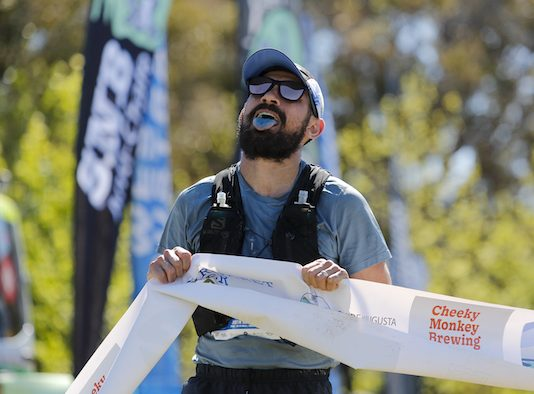 Justin Scarvaci wins the Margaret River Ultra men's race